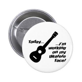 ¡Trabajo en mi cara del ukulele! Pin