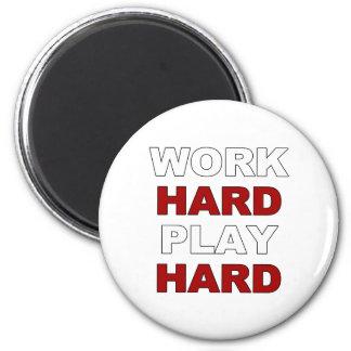 Trabajo Hard png Imán