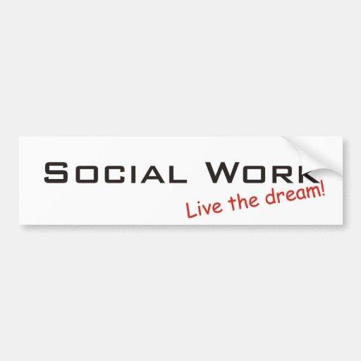Trabajo ideal/social pegatina de parachoque