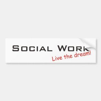 Trabajo ideal/social pegatina para auto