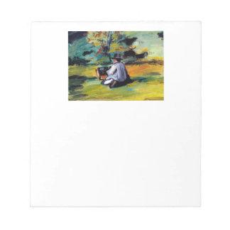 Trabajo impresionista francés Cezanne del pintor Libreta Para Notas