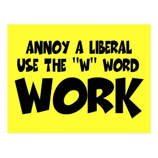 Trabajo liberal anti postal