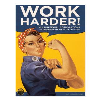 ¡Trabajo más difícilmente! ¡Las sociedades Postales