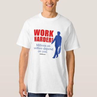 Trabajo más difícilmente. Millones en bienestar Camisas