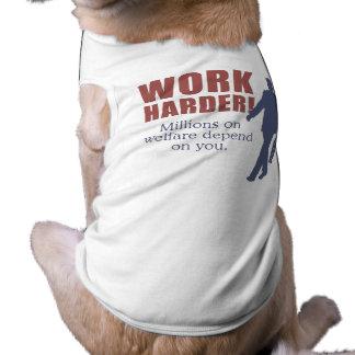 Trabajo más difícilmente. Millones en bienestar de Prenda Mascota