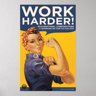 ¡trabajo más difícilmente! póster