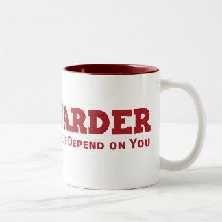 Trabajo más difícilmente taza de café