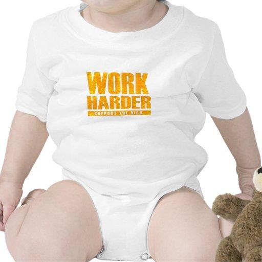 Trabajo más difícilmente traje de bebé