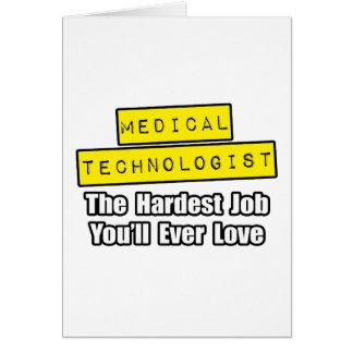 Trabajo más duro médico del tecnólogo… tarjetón