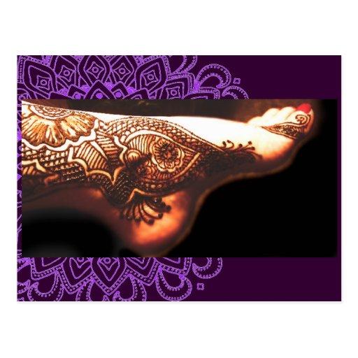 Trabajo NO2 del tatuaje de la alheña de Bajidoo Tarjeta Postal