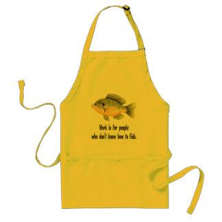 Trabajo o pescados delantal