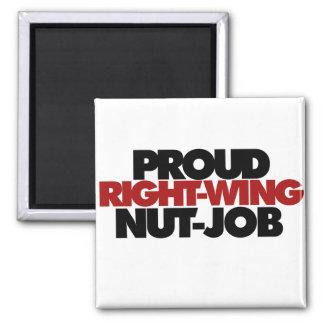 Trabajo orgulloso de la nuez de la derecha imán de frigorífico