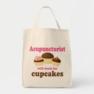 Trabajo para el regalo del Acupuncturist de las ma Bolsa Tela Para La Compra