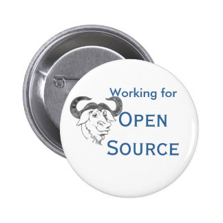 Trabajo para Open Source Pin Redondo De 2 Pulgadas