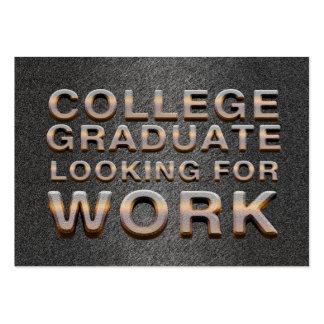 Trabajo que busca graduado de la universidad de la tarjetas de visita