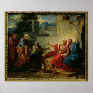 Trabajo que es regañado por su esposa, c.1790 póster