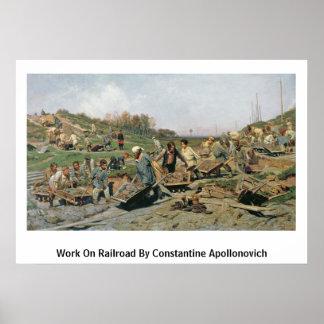 Trabajo sobre el ferrocarril por Constantina Apoll Impresiones