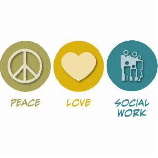 Trabajo social del amor de la paz adorno fotoescultura