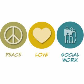 Trabajo social del amor de la paz esculturas fotográficas