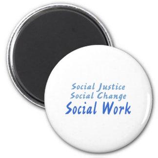 Trabajo social imán redondo 5 cm