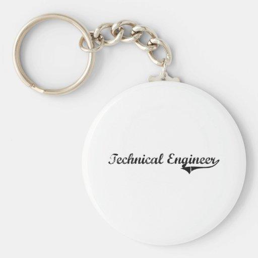 Trabajo técnico del profesional del ingeniero llaveros personalizados