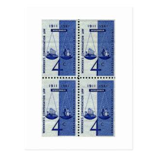 Trabajo, vintage de la ley de la remuneración de tarjetas postales
