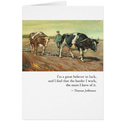 Trabajo y suerte de Thomas Jefferson Tarjetas