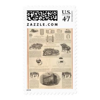 Trabajos americanos del alambre sellos postales