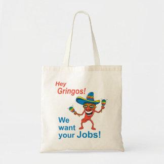 Trabajos antis del extranjero indocumentado bolsa tela barata
