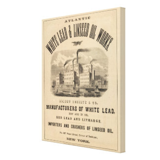Trabajos atlánticos de la ventaja blanca y del ace impresión en lona estirada