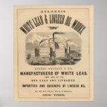 Trabajos atlánticos de la ventaja blanca y del ace póster