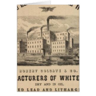 Trabajos atlánticos de la ventaja blanca y del ace felicitacion