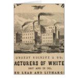 Trabajos atlánticos de la ventaja blanca y del ace tarjeta de felicitación