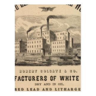 Trabajos atlánticos de la ventaja blanca y del ace tarjetas postales