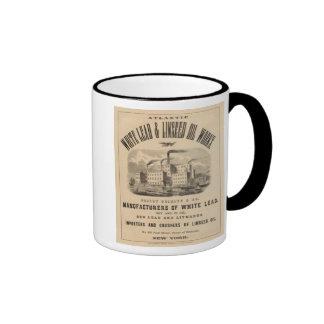 Trabajos atlánticos de la ventaja blanca y del ace tazas de café