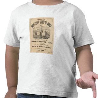 Trabajos atlánticos de la ventaja blanca y del camiseta