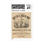 Trabajos atlánticos de la ventaja blanca y del sello postal