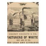 Trabajos atlánticos de la ventaja blanca y del tarjeta postal