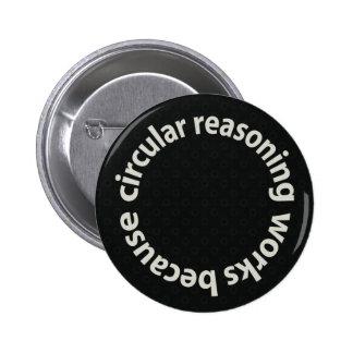 Trabajos circulares del razonamiento porque botón  pin