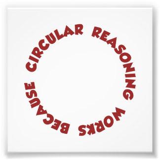 Trabajos circulares del razonamiento porque hace impresión fotográfica