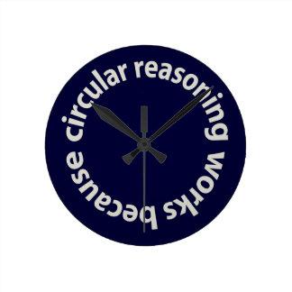Trabajos circulares del razonamiento porque… Reloj