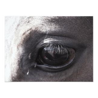 Trabajos de exhibición de los artistas del caballo invitación 16,5 x 22,2 cm