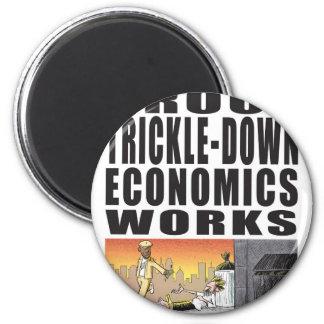 Trabajos de goteo de la economía de la prueba imán redondo 5 cm