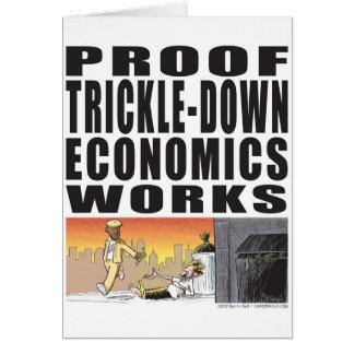 Trabajos de goteo de la economía de la prueba felicitación