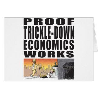 Trabajos de goteo de la economía de la prueba tarjeta de felicitación