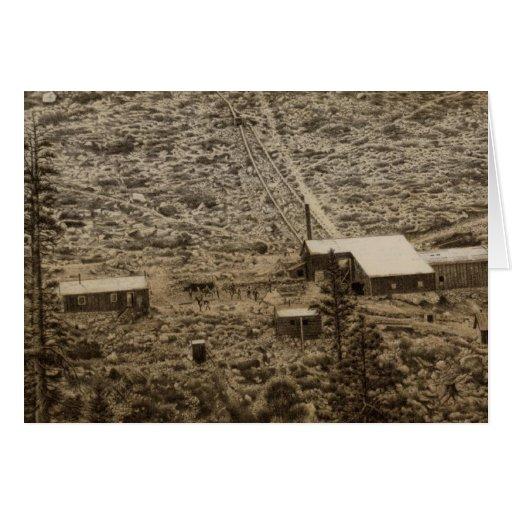 Trabajos de la explotación minera de Kearsarge Tarjeta