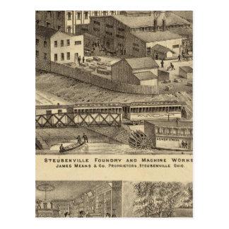 Trabajos de la fundición y de la máquina de postal