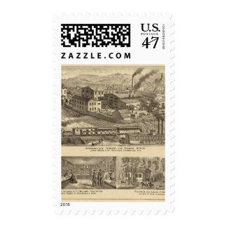 Trabajos de la fundición y de la máquina de sellos postales