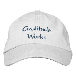 Trabajos de la gratitud - gorra gorra bordada