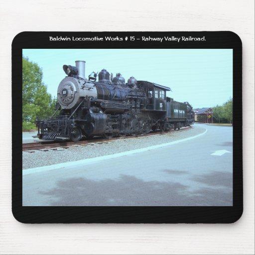 Trabajos de la locomotora de Baldwin # 15 - valle  Alfombrillas De Ratón